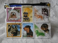 Postage Stamp Purse - Dogs