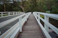 White bridge over calm water - Australia. Click picture to see the full image. Check out my page for more photography projects.