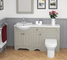 Atlanta Classic bathroom furniture in beautiful Stone Grey, creating a timelessly stylish look.