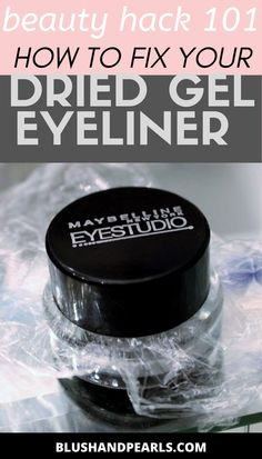 How To Fix Dried Out Gel Eyeliner beauty hack. Find out how to keep your gel eyeliner moist and ready to use with this easy tip to revive it. Maybelline Gel Eyeliner, Best Gel Eyeliner, Eyeliner Hacks, Beauty Makeup Tips, Best Beauty Tips, Makeup Hacks, Beauty Hacks, Eye Liner Tricks, Gel Liner