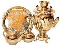 Omg so pretty !!! Russian Samovar electric nickel plated set of Acorn | Russian Samovar Manufacturing samovars - Coal samovars, Electric samovars, Exclusive samovars, Antique samovars