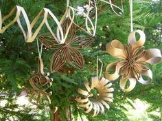 Cardboard Tube Ornaments