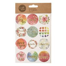 Craftwise Watercolour Stickers 4 Sheets