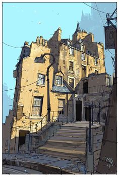 Calton Hill by Ian McQue