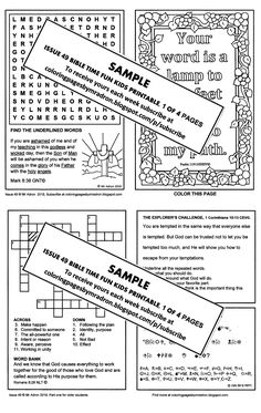 50 Best Bible Fun Activity Printables for Kids images in