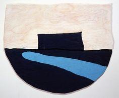 Richard Tuttle New Mexico, New York, E, #7 1998 acrylic on fir plywood 20 x 23 3/4 inches 50.8 x 60.3 cm