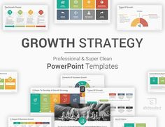 A best and well-designed collection of Growth Strategy PowerPoint Template Diagrams and Slides to visualize many concepts during the strategic planning process to gain larger new market shares, generate more revenue, and rising sales and profits. Best Ppt Templates, Powerpoint Template Free, Business Powerpoint Templates, Powerpoint Presentation Templates, Business Presentation Topics, Project Presentation, Strategic Planning Process, Creative, Ideas