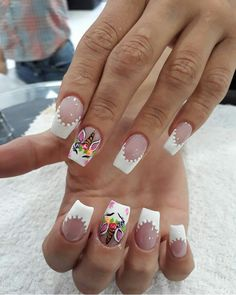 Gorgeous Nails, Love Nails, Pretty Nails, Fun Nails, Kawaii Nail Art, Cute Nail Art, Unicorn Nail Art, Nail Time, Accent Nails