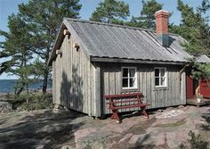 a cottage in Åland archipelago, Finland Summer Cabins, Cabin Design, Amazing Spaces, Building Materials, Building Ideas, Archipelago, My Dream Home, Finland, Beautiful Homes