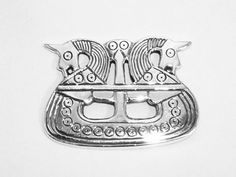 Viking brooch, silver, Denmark