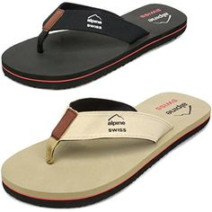 042fb48851c3da Alpine Swiss Mens Flip Flops Beach Sandals Lightweight EVA Sole Comfort  Thongs    For more