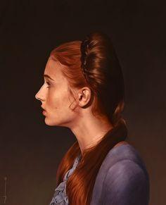 Sansa Stark by Euclase Ashley ray via Mj Coffeeholick onto I love red hair Sansa Stark, Lady Games, The North Remembers, My Champion, Game Of Thrones Art, Digital Portrait, Digital Art, Best Fan, Pop Culture