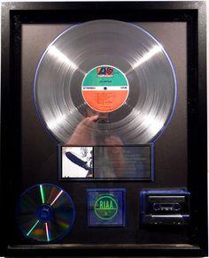 Led Zeppelin - Led Zeppelin I - US RIAA Platinum Music Award ( goldene Schallplatte) - original Sales Music Record Award ( Golden Record )
