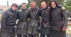The Men of the Night Watch....Sam, Pip, Grenn, Edd and Jon.  Game of Thrones
