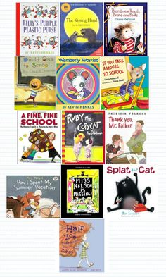 Back-to-school read-alouds...link is not to the post, just use pic to remember the books