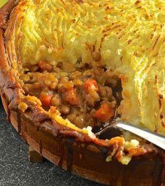Vegan lentil shepherd pie