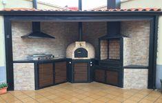 Outdoor Barbeque, Barbecue Area, Bbq, Outdoor Cooking Area, Diy Outdoor Kitchen, Grill Design, Patio Design, Parrilla Exterior, Casa Patio