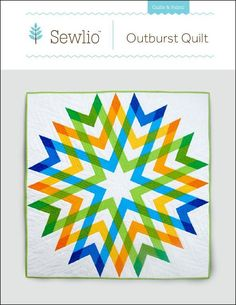 Outburst by Kyndra | Quilting Pattern - Looking for your next project? You're going to love Outburst by designer Kyndra. - via @Craftsy