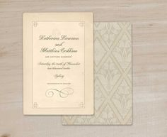 Vintage Wedding Invitations or Save the Dates Floral pattern 1910. $90.00, via Etsy.