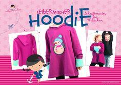 Anleitung wie man selber einen Kinder Hoodie nähen kann, inkl. kostenlosem Schnittmuster von alles-fuer-selbermacher und Bildanleitung von Pech&Schwefel