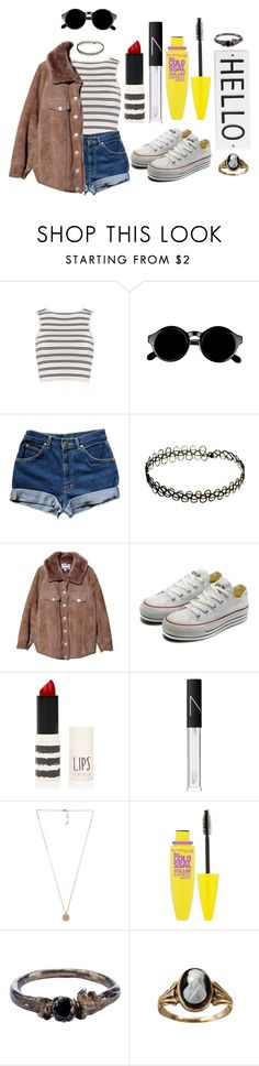 """""""Sin título #588"""" by ariannastradlin ❤ liked on Polyvore featuring Retrò, INDIE HAIR, Acne Studios, Converse, Topshop, NARS Cosmetics, Michael Kors, Maybelline, Disce Mori and Cameo"""
