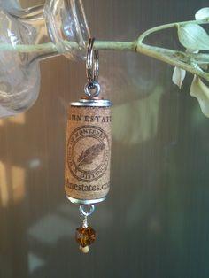 Artful Panoply: Wine Cork Keychains
