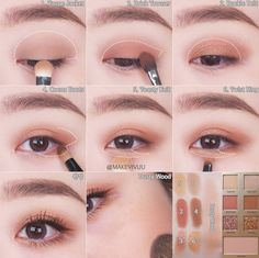 eye makeup for asian eyes \ eye makeup for asian eyes _ eye makeup for asian eyes hooded eyelids _ eye makeup for asian eyes korean _ eye makeup for asian eyes almond Soft Eye Makeup, Bronze Eye Makeup, Asian Eye Makeup, Eye Makeup Steps, Skin Makeup, Eyeshadow Makeup, Natural Makeup, Eyeshadow Palette, Monolid Eyeliner