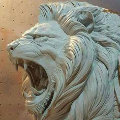 Lion Sketch, Lion Pictures, Lion Art, Lion Tattoo, Sculpture Clay, Animal Sculptures, Cat Art, Oeuvre D'art, Les Oeuvres