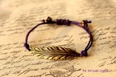 Feather adjustable bracelet in dark purple waxed cotton cord. Etsy shop the donjuanlegend Feather adjustable bracelet in dark purple waxed cotton cord. Etsy shop the donjuanlegend was last modified: October… I Love Jewelry, Jewelry Box, Jewelry Accessories, Jewelry Making, Fashion Accessories, Jewlery, Bridal Jewelry, Women Accessories, Piercings
