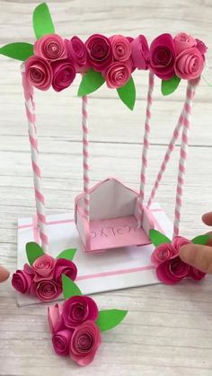 Origami Easy Dragon - How To Make a paper dragon - Vogel Paper Flowers Craft, Paper Crafts Origami, Paper Crafts For Kids, Flower Crafts, Origami Flowers, Diy Crafts Hacks, Diy Crafts For Gifts, Diy Crafts Videos, Fun Crafts