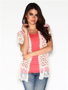 Cream Flower Lace Vest Top | Affordable Modest Boutique Clothes for Women | Trendy Modest Church Dresses