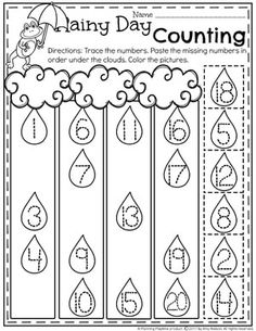 Counting 1-20 Worksheet for kids.