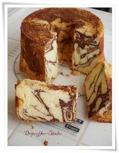 Marble Chocolate chiffon cake