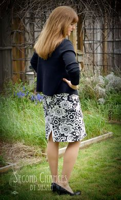 This skirt is made from a polo shirt.  Second Chances by Susan: T-Shirt to Skirt Refashion