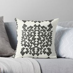 Promote   Redbubble Pattern Print, Print Patterns, White Patterns, Throw Pillows, Black And White, Abstract, Home Decor, Summary, Toss Pillows