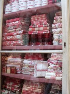 Red and white linens http://www.pinterest.com/source/getcottage.blogspot.com/ Wren Elizabeth Gifts ~ Melin
