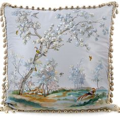 Meadows Handpainted Silk Pillow from Metrohouse Designs for $499.00 on Square Market