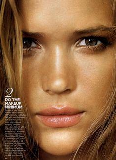 Bronzer + highlighter! Glamour Editorial Superfast Sexy Summer Beauty, June 2008 Shot #2