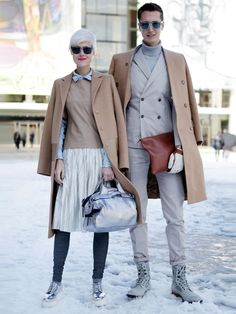 Photos: Photos: Best-Dressed Street Style at New York Fashion Week Fall 2013 Couple Style, My Style, Nyfw Street Style, Street Style Looks, Street Fashion, Fashion Couple, Love Fashion, Fashion Design, Fashion Images