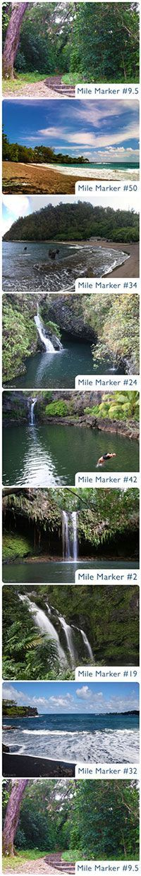 Complete Maui tips with road to Hana info---neat, even gives you the mark to look for. We drove the road to Hana . It's a Long drive up the winding mountain side with scenic views. I love Maui VixenTam Trip To Maui, Hawaii Vacation, Vacation Places, Dream Vacations, Vacation Ideas, Aloha Hawaii, Hawaii Life, Hawaii 2017, Maui Honeymoon