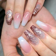 Day Baby Boomer Glitter Nail Art – – NAILS Magazine Source by nailsmagazine Diy Nail Designs, Acrylic Nail Designs, Acrylic Nails, Diy Nails, Cute Nails, Pretty Nails, Ongles Gel French, Vacation Nails, Gel Nagel Design