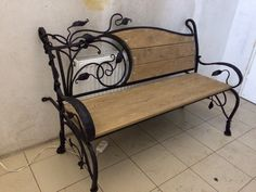 Furniture Stores In Chicago Iron Furniture, Steel Furniture, Industrial Furniture, Furniture Design, Furniture Stores, Wrought Iron Chairs, Wrought Iron Decor, Iron Bench, Metal Art Projects