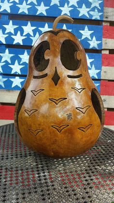 Halloween Owl Gourd by BobbisCraftsanThings on Etsy