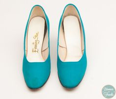 1950s Turquoise High Heels by Evening Star by BloomersAndFrocks, $28.00