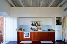 House tour: Marc Newson and Charlotte Stockdale's Greek island escape: In Ithaca, though, the couple have distinctly different roles: gardener, landscape designer, frozen-pizza-lunch preparer. It's also where their individual tastes collide. Take, for example, the smooth edges of the Carrara marble kitchen countertop that sits between a sparkling white refrigerator and oven (Newson), part of Newson's home collection for Italian appliance company Smeg. Then there's lived-in appeal court...