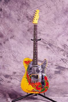 Jimmy's Dragon Tele which he painted. A so called friend painted over this while he was on tour. Yikes - who touches one of Jimmy's guitars w/o asking????
