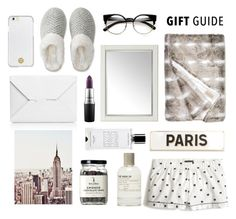 """BF Gift Guide"" by hellodollface ❤ liked on Polyvore featuring J.Crew, J.W. Anderson, Rosanna, Agonist, Universal Lighting and Decor, Tory Burch, Aéropostale, MAC Cosmetics and giftguide"