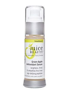 Packed with natural versions of known skin-improvers, like cane sugar and milk peptides (an exfoliant), willow bark extract (an acne-fighter), and antioxidants in the form of green tea leaf extract, Juice Beauty Green Apple Age Defy Serum is a do-it-all treatment.  It's mixed into a base of anti-inflammatory linseed and borage seed oils, and topped off with vitamins C, A and E. $52 at juicebeauty.com or amazon.com.  - GoodHousekeeping.com