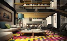 Salas de Estar Coloridas e Criativas 10