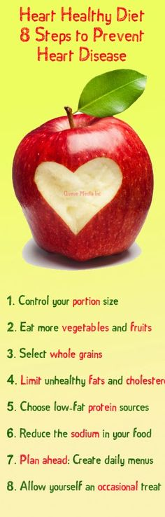 Heart-healthy diet: 8 steps to prevent #heart disease #health #diet